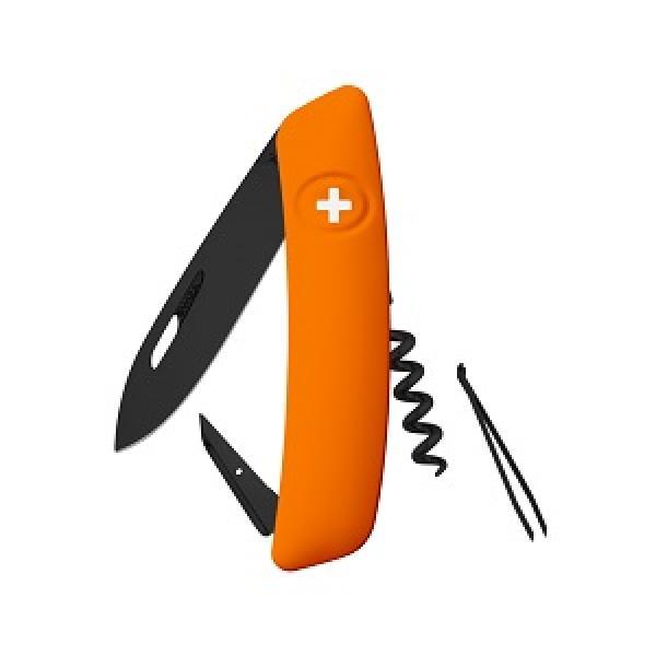 Swiza D03 Swiss Pocket Knife Multi-Tool Black Blade - Orange