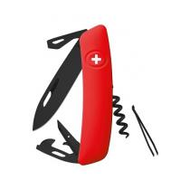 Swiza D03 Swiss Pocket Knife Multi-Tool Black Blade - Red