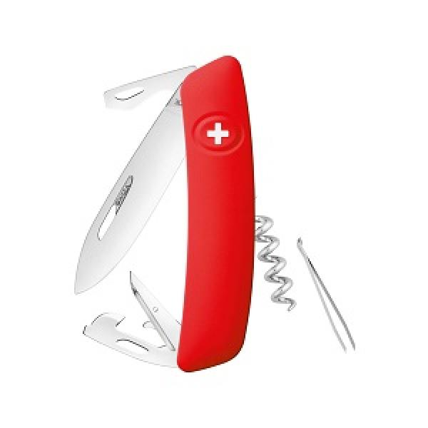 Swiza D03 Non Locking Swiss Pocket Knife Multi-Tool Silver Blade - Red