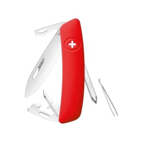 Swiza D04 Non Locking Swiss Pocket Knife Multi-Tool  - Red