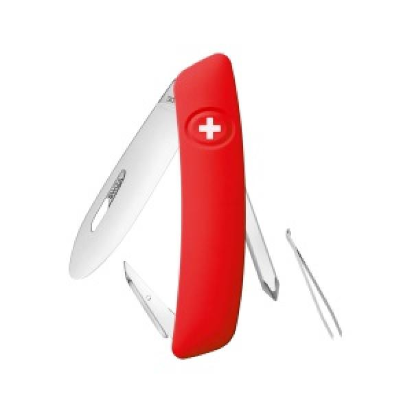 Swiza J02 Kids Swiss Pocket Knife Multi-Tool - Red