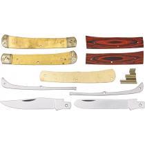 "Rough Ryder Custom Shop Trapper Knife Making Kit - Make your own 4.13"" Trapper Knife - Brown Wood Scales"