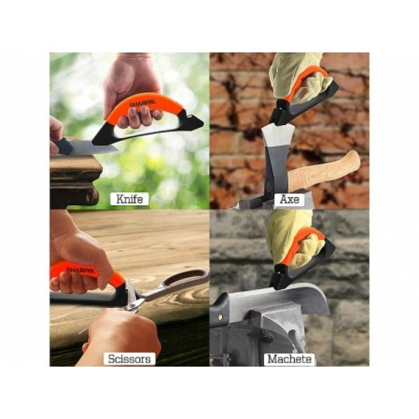 Sharpal 3 in 1 Knife, Axe and Scissors Sharpener with Safety Guard