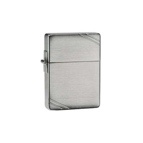 1935 Replica with Slashes Brushed Chrome  Zippo Lighter - Genuine Zippo windproof lighter