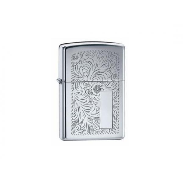Venetian High Polish Chrome Zippo Lighter - Genuine Zippo windproof lighter